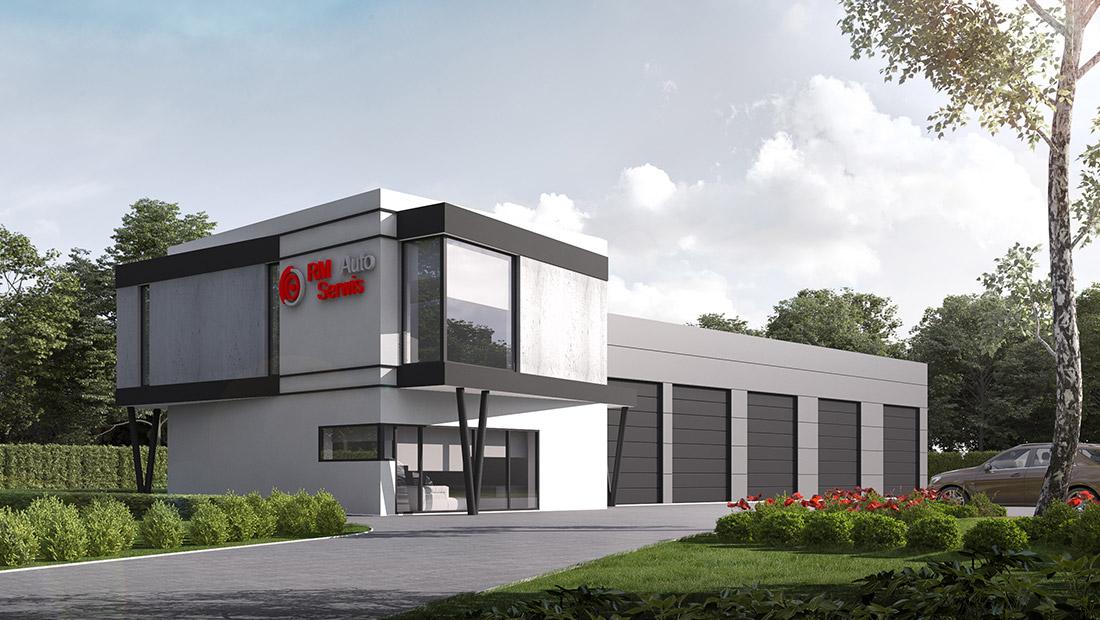 Budowa warsztatu samochodowego, Strefa Aktywności Gospodarczej w Zatorze