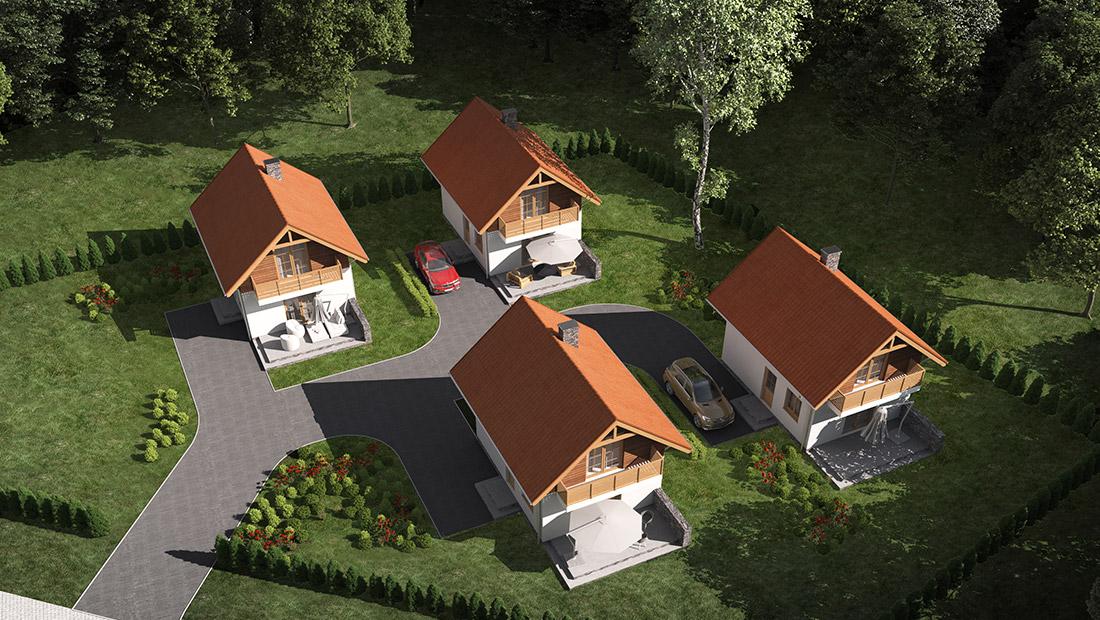 Budowa czterech budynków letniskowych - Spytkowice